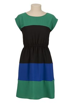 One of my new dresses — Short Sleeve Stripe Colorblock Dress available at #Maurices