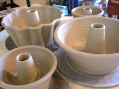 lily pottery: my new fetish...throwing bundt cake pans!!!