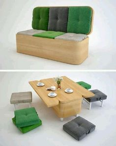 Compacta mesa espacio savinf y comedor silla