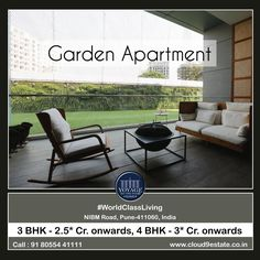 Garden Apartment : Voyage To The Stars by Cloud 9 3 & 4 BHK World-Class Living Homes at NIBM Road, Pune. #Home #WorldClassLiving #NIBM #Pune