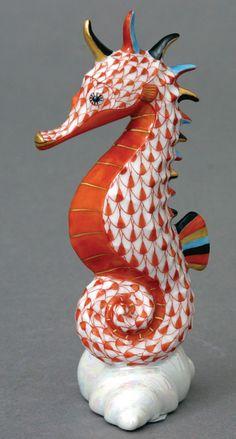 Herend Seahorse Orange 15325 VH