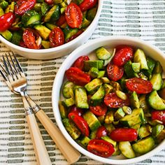 cucumber, tomato, avocado, onion, balsamic salad