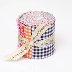 Riley Blake Small Gingham Rolie Polie 2.5 Inch Precut Strips on Etsy, $10.95