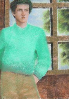 Jorge Alzaga, Sin título, sin fecha, pastel s papel, 69 x 49 cm.