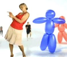 New trending GIF tagged dancing weird balloon via Giphy. Dancing Animated Gif, Gif Dance, Dance Music, R Gifs, Tumblr Stuff, Pop Out, Stupid People, Just For Fun, New Trends