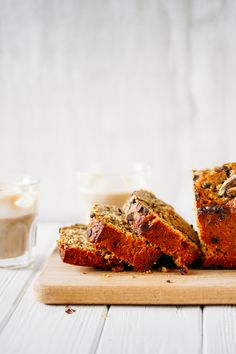 Chocolate chip peanut butter banana bread.