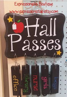 Hey, I found this really awesome Etsy listing at https://www.etsy.com/listing/185029642/ready-to-ship-teacher-hall-pass-set