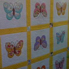 butterfly quilt by foxygreen, via Flickr