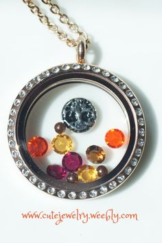 Perfect way to celebrate Fall/Autumn with a customizable locket from South Hill Designs!