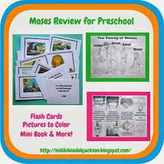 Birth of Moses & the Burning Bush Review For Preschool