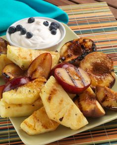 Grilled fruit. What a great idea!