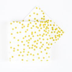 Gold Confetti Napkins - Set of 20 at The TomKat Studio Polka Dot Birthday, Gold Confetti, Napkins Set, Birthday Celebration, Primary Colors, Fun Activities, Balloons, Birthdays, Baby Shower
