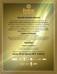 FESTIVAL EN CORTO MÉXICO 2015
