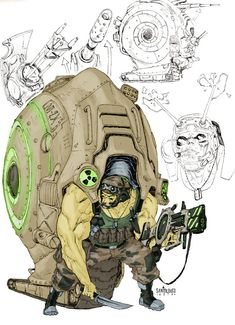 Character design for DC Comics' DIAL H Iron Snail is one of my favorites so far. The description said something about a bulk guy with a metalic spi. Iron Snail_DIAL H_character design Fantasy Character Design, Character Creation, Character Design Inspiration, Character Concept, Character Art, Concept Art, Arte Cyberpunk, Creature Concept, Character Design References