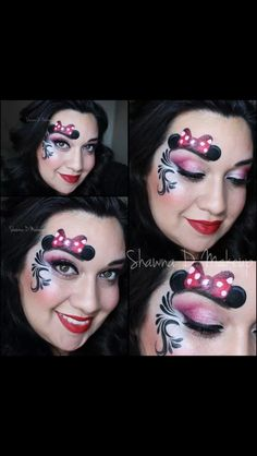 Minnie Mouse Face Painting!