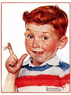 iCanvas Boy with String Gallery Wrapped Canvas Art Print by Norman Rockwell Peintures Norman Rockwell, Norman Rockwell Art, Norman Rockwell Paintings, Vintage Advertisements, Vintage Ads, Vintage Posters, Best Painting Ever, Photo Humour, The Saturdays