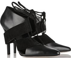 Alexander Wang Mila Leather and Suede Pumps