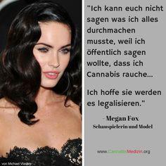 Schade das die Gesellschaft immer noch so viele Vorurteile gegenüber Personen hat die Cannabis konsumieren. Megan Fox, wir hoffen auch das sie bald Cannabis legalisieren!  Cannabis Hanf Hemp Weed Marijuana Marihuana Medizin