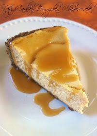Plain Chicken: Ritz Carlton Pumpkin Cheesecake with Caramel Sauce