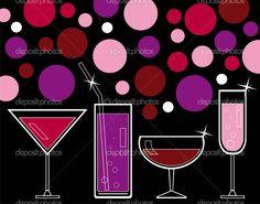 Jugos y bebidas alcohólicas — Ilustración de stock #4632990