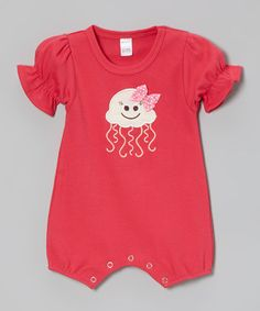 This Fuchsia Jelly Fish Romper - Infant by Petunia Petals is perfect! #zulilyfinds