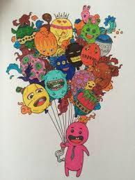 Doodle Invasion By Zifflin Find This Pin And More On Color Book