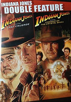 Indiana Jones and the Last Crusade / Indiana Jones and the Kingdom of the Crystal Skull - Double Fea @ niftywarehouse.com #NiftyWarehouse #IndianaJones #GeorgeLucas #HarrisonFord #Movies