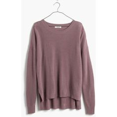 MADEWELL Warmlight Pullover Sweater ($60) ❤ liked on Polyvore featuring tops, sweaters, fig, stitch sweater, pullover sweater, brown pullover sweater, pullover tops and layered sweater