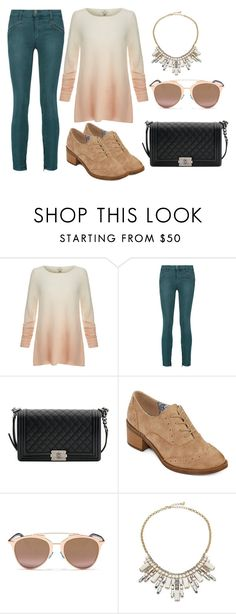 """uuujg"" by v-askerova on Polyvore featuring мода, Joie, Current/Elliott, Chanel, POP, Christian Dior и ABS by Allen Schwartz"