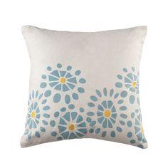 Floral Burst Cotton Throw Pillow (Set of 2)