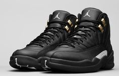 sale retailer d4720 b93fd Air Jordan 12 Retro The Master Color Black Rattan-White-Metallic Gold