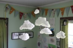 Great idea for clouds in a kids bedroom