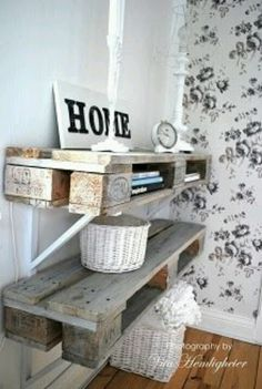 Definitely want to do this. Paint it, antique it. Would make a nice shrine, or shelves for the kids too :D