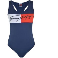 Tommy Jeans 90S Bodysuit ($71) ❤ liked on Polyvore featuring intimates, shapewear and blue