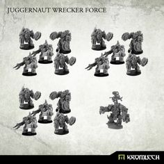 This deal contains one orc Warchief in Juggernaut Mecha-Armour and three Juggernaut Kill Squads.  Each Kill Squad consist of five orcs in Juggernaut Mecha-Armours. Three of them armed with pair of Rippa Mega Buzzsaws and two armed with CCWeapon and Krush Rokkets or Flamers (please let us know your choice of heavy weapons in the comment field during checkout) .  Buying this deal you save almost 20%!