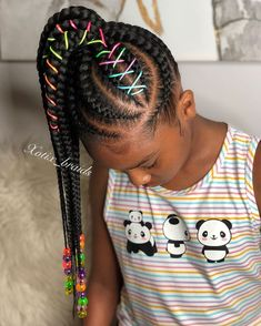 Braided Hairstyles for Kids - Box Braids Hairstyles Old Hairstyles, Black Kids Hairstyles, Braided Ponytail Hairstyles, Baby Girl Hairstyles, Box Braids Hairstyles, Hairstyle Ideas, African Kids Hairstyles, Dance Hairstyles, African Hair