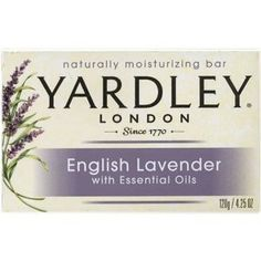 Yardley English Lavender Soap - Inexpensive and a must for the guest bathroom. Also comes in a liquid soap.