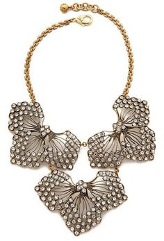 Bridal jewelry, floral, elopement, wedding accessories Lulu Frost Cactus Flower Statement Necklace