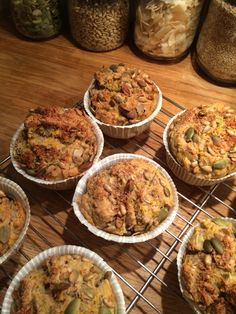Coco nutty breakfast muffins. IQS.
