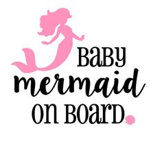 Baby Mermaid On Board Car Decal by SouthSoulDesigns on Etsy