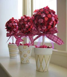 Árbol de caramelo, ejemplo de manualidades para boda.