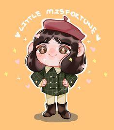 [Fan Art Little Misfortune] Little Lady Misfortune by on DeviantArt Creepy Games, Little Misfortune, Miss Fortune, Childhood Games, Cartoon Games, Creative Skills, Video Game Art, Indie Games, Chibi