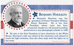 100+ Facts About US Presidents 23- Benjamin Harrison