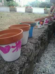 Vasi decorati #piccoli #giardinieri