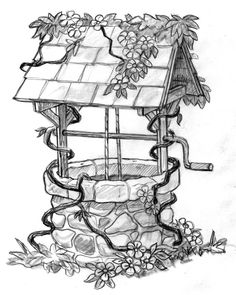 Grandma and Grandpa Riccardo had a Wishing Well in their yard....I want to build one in my garden.