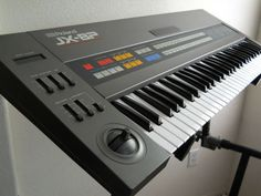 Roland JX-8P. Fully analog polyphonic. Instant 80's. Fantastic strings and brasses as well as leads.