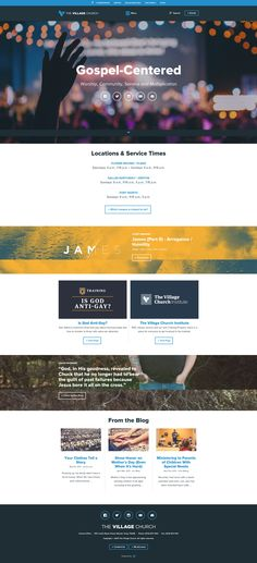 The Village Church Web Design, Clothing Blogs, Social Media Branding, Humility, Creative Inspiration, Worship, Website, Design Web, Website Designs