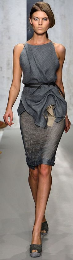 Boss Lady....Grey Dress Donna Karan/karen cox