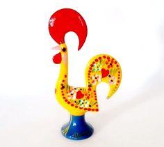 """Galo Barcelos Rooster of Luck Portuguese Hand Painted Decor Souvenir 21 cm / 8"""" #Unbranded #PortugueseSouvenir"""