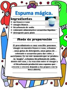 Recetas divertidas para niños Funny recipes for children – Educational Images Science Activities For Kids, Science For Kids, Science Experiments, Diy For Kids, Crafts For Kids, Party Deco, How To Make Paper, Kids And Parenting, Kids Learning
